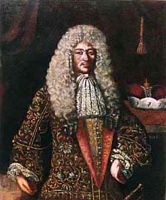The portrait of Jan Kristian of Eggenberg, copy according to de Veerle, Červený Dvůr(?), 1706, oil painting on canvas, complex restoration done by Stojan Genčev, Prague, 1995