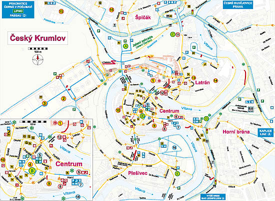 Český Krumlov: A Guide for Handicapped and Other Visitors, Map of Český Krumlov