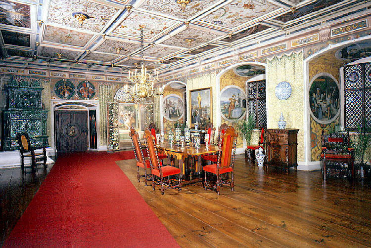Castle Rožmberk nad Vltavou, Knights' Hall, beginning of the 17th century