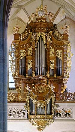 Kájov, Church of Pilgrimage, organ, foto: Libor Sváček
