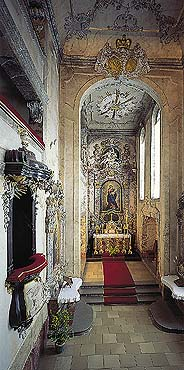 Chapel of St. George at the Český Krumlov Castle, interior, foto: Libor Sváček