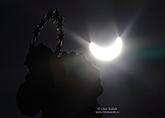 Partial solar eclipse on the 20.3.2015, town square Český Krumlov, photo by: Libor Sváček