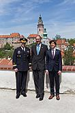 The USA ambassador to the Czech Republic Andrew H. Schapiro and the commander of US forces in Europe, Gen. Frederick B. Hodges in Český Krumlov, 8.5.2015, Foto: Lubor Mrázek