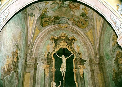 Karel Hrubeš, restored Chapel of the Resurrection in Church of St. Vitus in Český Krumlov