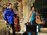 Petr Nouzovský /cello/ and Miriam Rodriguez Brüllová /guitar/, 1.8.2017, 26th International Music Festival Český Krumlov 2017, source: Auviex s.r.o., photo by: Libor Sváček