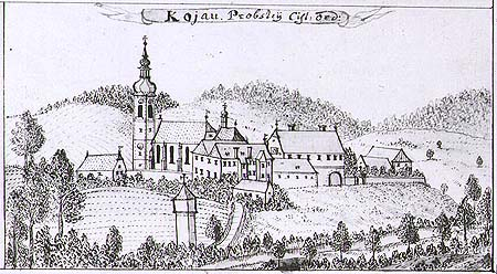 Friedrich Bernard Werner, vista of Kájov, mid 18th century