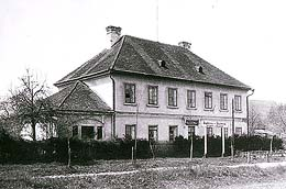 Horse-drawn railway, second horse exchange station on Czech soil - Bujanov, condition in 1925