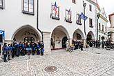 Ceremonial act on the occasion of the 74th anniversary of the end of World War II, Český Krumlov 4.5.2019, photo by: Lubor Mrázek