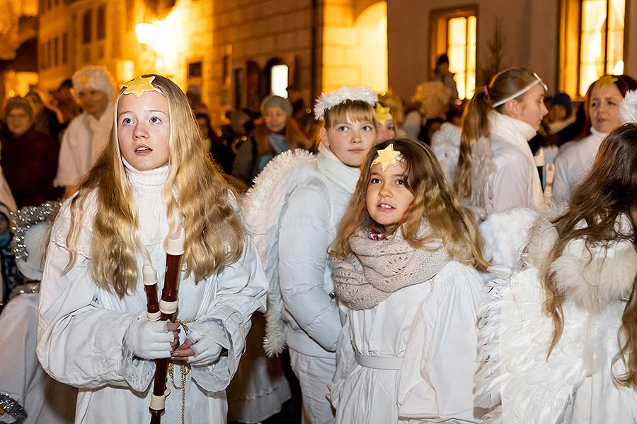 Angelic Procession and st. Nicholas Present Distribution in Český Krumlov 5.12.2019
