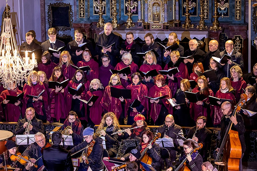 "Concert at the Monastery Church - Český Krumlov String Orchestra, Krumlov Chamber Orchestra and Mixed Singing Choir Perchta – ""Hej Mistře!"" – Bohemian Christmas Mass by J. J. Ryba in Český Krumlov 26.12.2019"