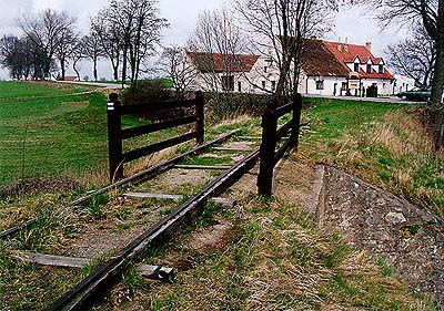 Horse-drawn railway, remains of tracks in Holkova u Velešína, foto: V. Šimeček