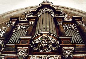 Church of St. Vitus in Český Krumlov, organ on the choir of the Literary Brotherhood
