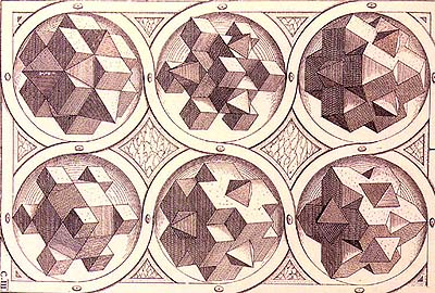 W. Jamnitzer, Perspectiva corporum regularium, Nürnburg 1568