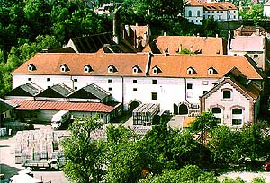Eggenberg Brewery - view from Havraní rock cliffs