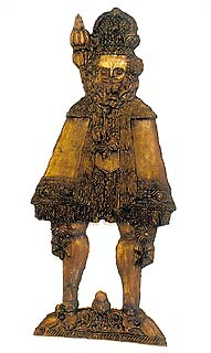Cast of gingerbread form in the shape of a king, collection of Regional Museum of National History in Český Krumlov
