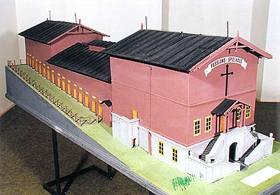 Model of home of Passion Plays in Hořice na Šumavě, collection of Regional Museum of National History in Český Krumlov