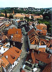 Latrán, view from tower of the Church of St. Jošt