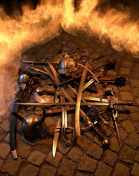 Knight's weaponry in a fiery circle, foto: Libor Sváček