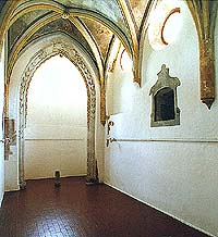 Monastery Zlatá Koruna, chapel of the Guardian Angels, vault
