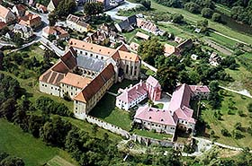 Zlatá Koruna, aerial view of monastery and surroundings