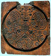 Round ornamental gingerbread form from 1656, collection of Regional Museum of National History in Český Krumlov