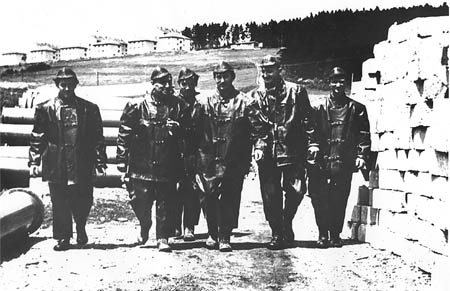 Hydro plant Lipno, construction of Lipno dam, historical photo