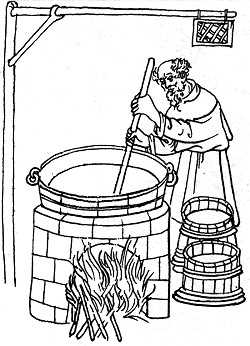 The period illustration of the brewer, source: Toulky českou minulostí II, Petr Hora, 1991, ISBN - 80 - 208 - 0111 - 1