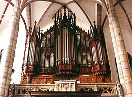 Church of St. Vitus in Český Krumlov, main organ