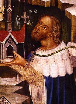 Vyšší Brod Altar, detail of portrait of Peter I. von Rosenberg