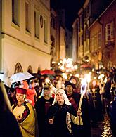 Fire procession through the town