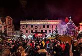 New year´s Eve celebration on the town square