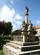 Baroque Marian column with sculptures