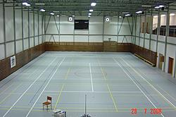 the premises of the sportshall